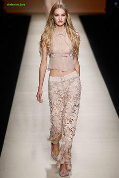 Alberta Ferretti Spring/Summer 2015 Ready-to-Wear Dresses Collation at Paris Fashioh Show Runway