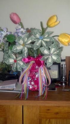 Grad gift for girl....Money Flowers