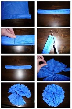 DIY Tissue Poms- Pretty and Cheap Wedding Details