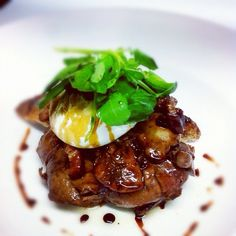 Pan-fried Duck Livers with Pancetta