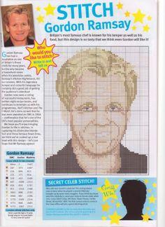 sandylandya@outlook.es Gordon Ramsey Cross Stitch Chart