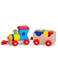 Buy Classic Wooden Train for delivery in Germany. GiftsForEurope is the leading gift provider in Europe since Diy And Crafts, Crafts For Kids, Time Games, Wooden Train, Gifts Delivered, Wood Toys, Paper Quilling, Educational Toys, Kids Toys