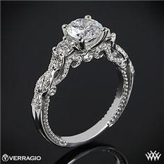 Verragio Braided 3 Stone Engagement Ring #Whiteflash #Verragio