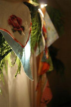 vintage fabric garland by contentedsparrow{megan}, via Flickr