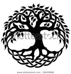 Vector Ornament, Decorative Celtic Tree Of Life - 359478998 . Vector Ornament, Decorative Celtic T Tree Of Life Images, Tree Of Life Art, Celtic Tree Of Life, Tree Art, Tree Images, Celtic Symbols, Celtic Art, Mayan Symbols, Egyptian Symbols