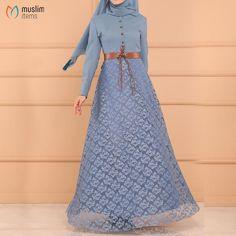 #muslimitems Dress Model with Lace Skirt - Baby Blue SKU: MIWC810263978  #hijab ...#baby #blue #dress #hijab #lace #miwc810263978 #model #muslimitems #skirt #sku Wedding Hands, Muslim Hijab, Islamic Fashion, Ethnic Dress, Ring Necklace, Shopping Mall, Hijab Fashion, Baby Blue, Lace Skirt