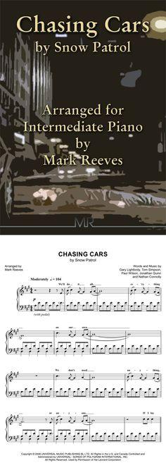 Chasing Cars - Piano Solo By Snow Patrol Snow Patrol, Chasing Cars, Digital Sheet Music, Pop Songs, Transcription, Piano Sheet Music, Choir, Lyrics, Ads