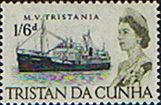 Tristan Da Cunha 1965 SG 81 Ship MV Tristania Fine Mint Scott  Other Tristan Da Cunha Stamps HERE