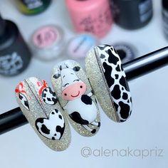 Animal Nail Designs, Animal Nail Art, Nail Art Designs, Nail Art Hacks, Gel Nail Art, Xmas Nails, Christmas Nails, Stylish Nails, Trendy Nails