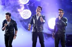 (L-R) Gianluca Ginoble, Ignazio Boschetto and Piero Barone of Il Volo perform onstage during Telemundo's Latin American Music Awards at the Dolby Theatre on October 8, 2015 in Hollywood, California. ♥♫♪♥