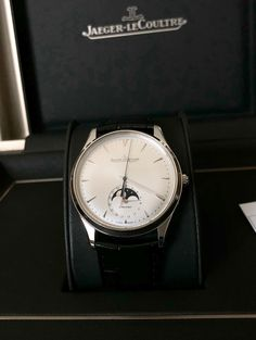 Jaeger LeCoultre Master Ultra Thin Moon 39 Men's Watch Moonphase