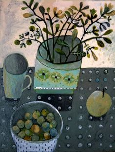 Este Macleod grey still life painting: