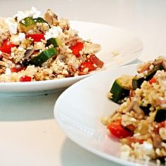 Cukkinis-gombás kuszkusz feta sajttal Easy Healthy Recipes, Easy Meals, Quiche Muffins, Recipe Using, Fried Rice, Pesto, Healthy Lifestyle, Buffet, Dishes