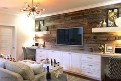 Feature Wall Reclaimed Wood Mt Laurel Model Design Trends