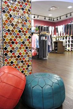Love the colorful #Moroccan #tile look in this store! #mosaic #design