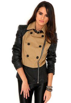 Adoncia Beige Leather Jacket