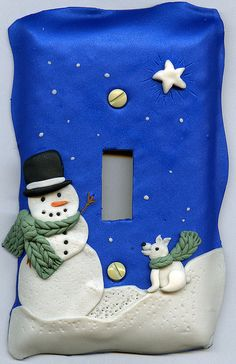 Dec 07 Guild - Snowman Light Switch Cover by CraftyGoat, via Flickr