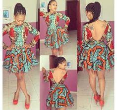 V-back Ankara dress