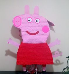 Peppa Pig big pinata. Height: 80 cm. Pull string.  Please find all of my handmade pinata at: https://www.facebook.com/BudetVeselo/photos/?tab=album&album_id=1499624303687333