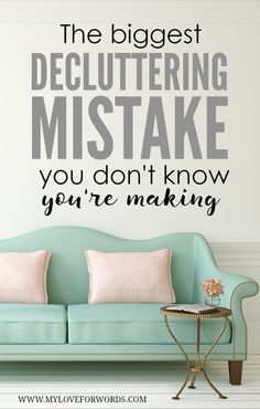 If you try over and over to declutter, but never seem to make any progress, this may be why. This is the biggest decluttering mistake so many people are making and don't even know it.
