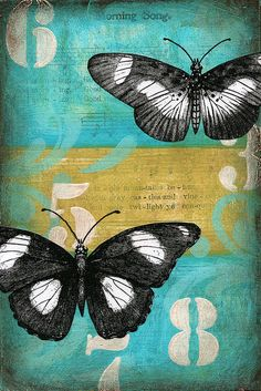 art journal inspiration - morning song - mixed media on canvas