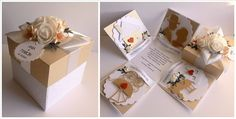 exploding box z okazji ślubu Magic Box, Exploding Boxes, Scrapbooking, Gift Wrapping, Gifts, Paper Wrapping, Presents, Wrapping Gifts, Favors