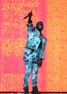 Kanye West performs at the Wireless Music Festival in Birmingham on July 6, 2014