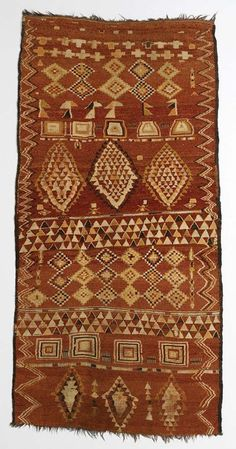 Africa | Carpet from the Ahmar people of Marrakesh, Morocco | late 19th century