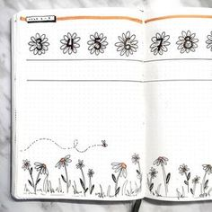 beautiful empty spread, inspiration for weekly spread in bullet journal