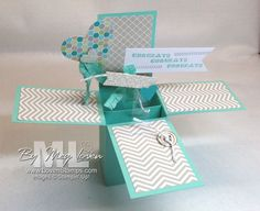 """I've been seeing these Pop-Up Box cards around for the last couple of months. But honestly, the first time I looked at one, I thought, """"No way."""" I figured they were way too complicated for my tastes. I'm a fan of simple stamping. But then I finally saw one created in person at our demonstrator …"""