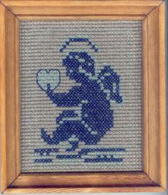 haft krzyżykowy - aniołek