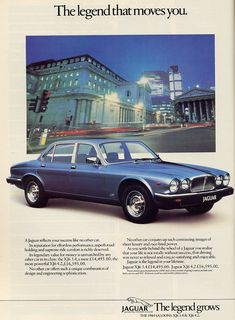 jaguar xj6 advertisement - Google Search