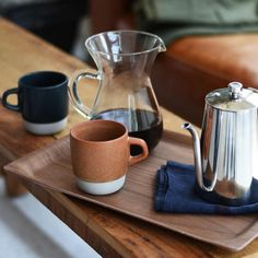 Slow Coffee Style Stacking Mugs Set by Kinto.