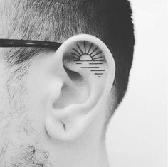 Tattoo | Ear. Sunset.