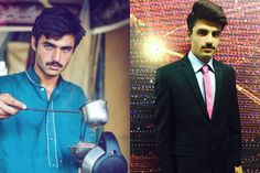 Sure, we've all seen extremely gorgeous dudes before. But there's just something magical about seeing one in an unexpected place. Photographer Jiah Ali recently stumbled across a Pakistani chaiwala, a.k.a. a tea vendor, who straight up has one of the most objectively stunning faces we've