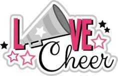 Love Cheer SVG scrapbook title cheerleading svg files cheerleading svg cuts for cardmaking scrapbooking