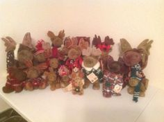 Boyds-Bears-plush-Moose-lot-of-18-most-w-tags