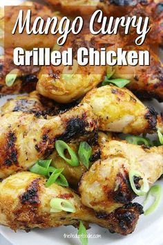 Mango Curry Grilled Chicken - The Fed Up Foodie - Mango Curry Grilled Chicken Mango Curry Grilled Chicken is delicious. I love this twist on a curry recipe. My husband's new favorite. Grilled Chicken Recipes, Best Chicken Recipes, Real Food Recipes, Crockpot Recipes, Cooking Recipes, Easy Homemade Recipes, Easy Healthy Recipes, Asian Recipes, Homemade Detox
