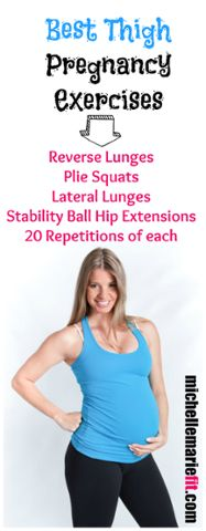 Prenatal exercises for the thighs so they don't gain a ton of weight during pregnancy. These exercises are safe to do during every trimester and will really help keep the legs and hips and butt toned and tight. http://michellemariefit.publishpath.com/prenatal-exercises-for-the-thighs