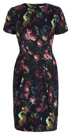 Short sleeved round neck dress in a lovely soft cotton fabric. Fitted bodice small tucks at front of skirt and front pocket detail. Zip down centre back. Tight Dresses, Short Sleeve Dresses, Fitted Dresses, Fitted Bodice, Cotton Fabric, Floral Prints, High Neck Dress, Bodycon Dress, My Style