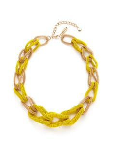 Cara Couture Jewelry Gold Mesh Link Necklace