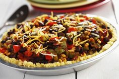 #Backtoschool: Confetti Pie with Cornmeal Crust makes for a weeknight dinner kids will love: