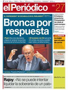 'Bronca por respuesta', en la portada de EL PERIÓDICO DE CATALUNYA