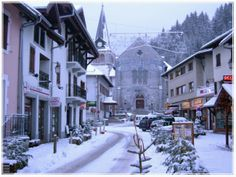 Les Gets ski resort in the French Alps