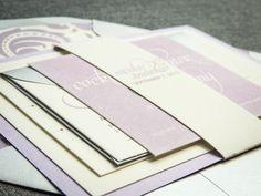 Purple Wedding Invitations, Lilac Wedding Invitations, Modern, Lavendar, Silver, Grey, Dramatic Script - Flat Panel, 1 Layers, v3 - DEPOSIT on Etsy, $150.00
