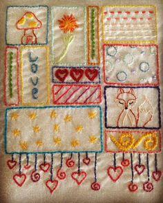 Bordado lindinho, o que será que vai virar? A inspiração veio de um trabalho que vi no pinterest da #leanneshouse #repetitatelier #bordado #patchwork #parabebes #presentelegal