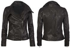 Every girl needs a leather jacket, it looks good with everything.