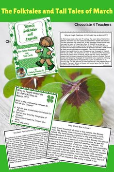 "Folk Tales, Tall Tales, Myths, Legends.... All the fun stuff about March! Task cards and nonfiction passages all together in one neat little  package. (p.s. ""great for test prep too! "")"