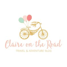 Premade Logo and Blog Header - Balloons & Bicycle Premade Logo Design & Blog Header - Customized with Your Business Name!