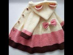 Abrigos bebe tejidos a Crochet ganchillo y dos agujas imagenes - YouTube